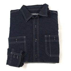 ❄️BF100 James Campbell Chambray Button Shirt L
